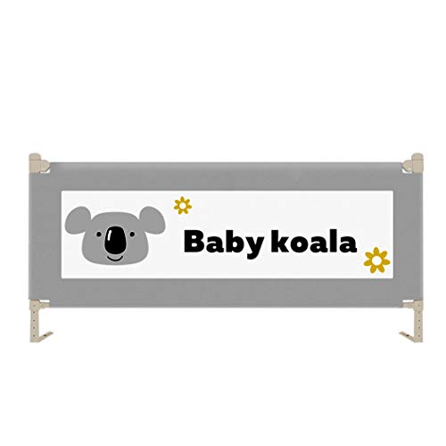Children's Anti-Drop Bed Guardrail Safety Universal Lifting Bed File Crib Bed Bezel (Color : Gray, Size : 200 ()