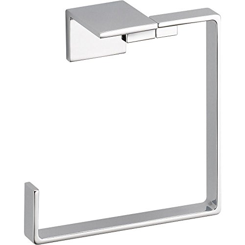 Delta Faucet 77746 Vero Towel Ring, Polished Chrome