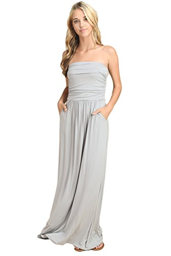 Vanilla Bay Solid Maxi Dress,Medium,Silver