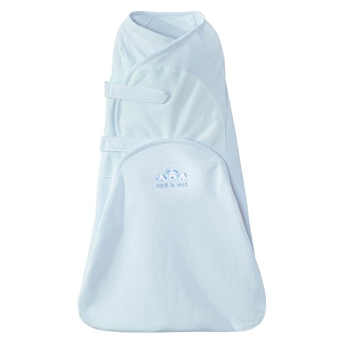 Halo Swaddlesure Adjustable Swaddling Pouch, Blue, (Blue Diaper Pouch)