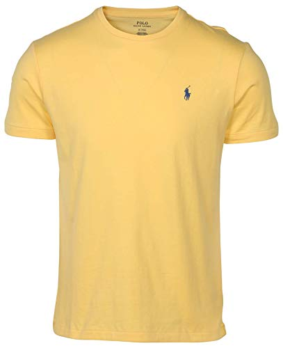 (RALPH LAUREN Men's Pony Logo T-Shirt (Medium  Yellow) )