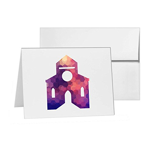 Chapel Invitations - Church Building Castle Cathedral Chapel, Blank Card Invitation Pack, 15 cards at 4x6, Blank with White Envelopes Style 8378