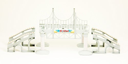 Bend A Path Toy Track Accessory- Bridge and Ramp Track Attachments- Fits ALL Bend A Path Track Vehicle Playsets by Flipo