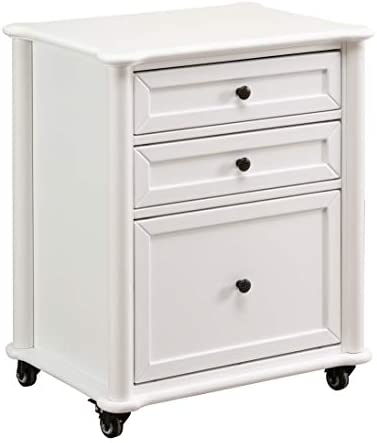 Ravenna Home Sullivan Modern Filing Cabinet, 24.75 W, White