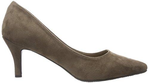 XTI Sra. Antelina Taupe, Zapatos de Tacón con Punta Cerrada para Mujer Taupe