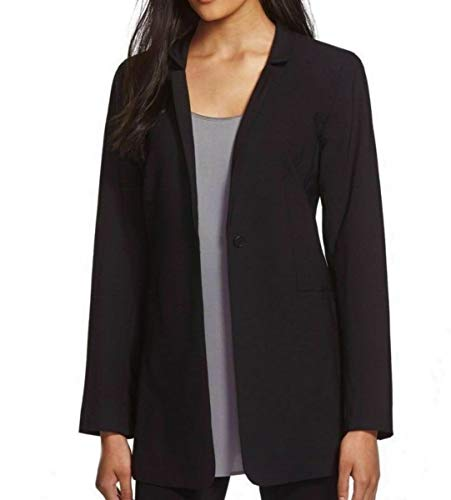 Eileen Fisher Tropical Viscose Wool Stretch Black Jacket 8 10 12 14 (8)