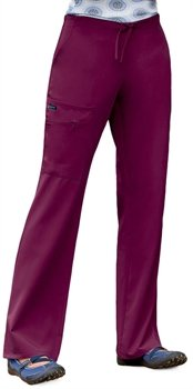 Classic Fit Collection by Jockey Women's Tri Blend Zipper Scrub Pants Large Petite New Navy