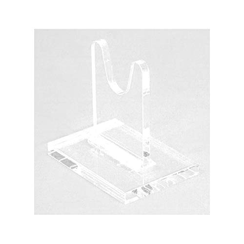 Easels by Amron Sword Stands for Antique and Vintage Swords for Displays and Shows. SOLD AS SINGLE UNITS for Mixing Sizes. (usually pick 2) Clear Acrylic. SWS-3 (3 inch)