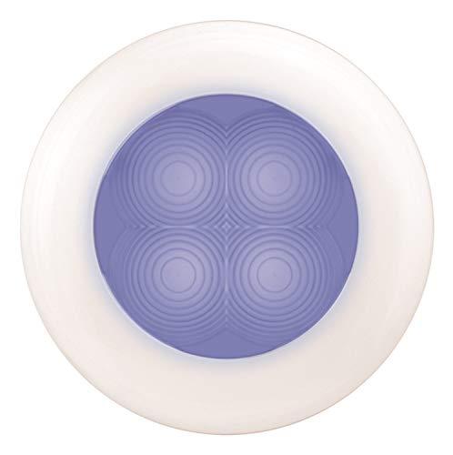 HELLA 980502641 9805 SlimLine LED Blue Interior Lamp with White Plastic Bezel  including - Bulbs Hella Xenon Blue