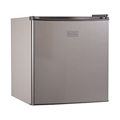 BLACK+DECKER BCRK17B Compact Refrigerator Energy Star Single Door Mini Fridge with Freezer, 1.7 Cubic Ft.