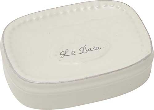 EVIDECO 6472433 Collection Le Bain Stoneware Bathroom Soap Dish White from EVIDECO