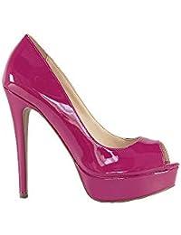 Peep toe verniz clássico pink