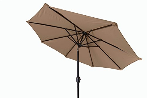 Trademark Innovations Tilt Crank Patio Umbrella, 7′, Tan For Sale