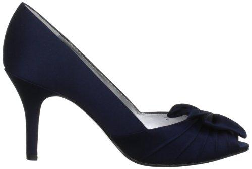 Pump Women's Toe Peep New Forbes Satin Satin Nina Navy XqBvwv