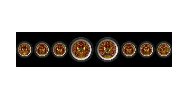Black Modern Needles, Black Trim Rings, Style Kit DIY Install Aurora Instruments 3757 Phoenix Series Tachometer Gauge