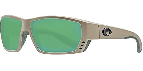 Costa Tuna Alley Nylon Frame Green Mirror Lens Men's Sunglasses TA248OGMGLP by Costa Del Mar
