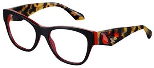 Prada PR07RV Eyeglasses-7I6/1O1 Top - Black Sunglasses Prada And Red