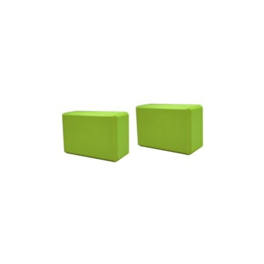 Sivan Health and Fitness Yoga Foam Blocks (Pack of 2, Green)