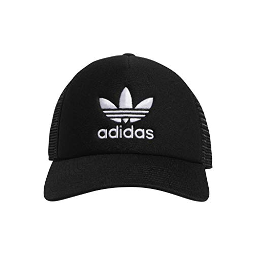 adidas Men's Originals Foam Trucker Cap, Black/White, One Size