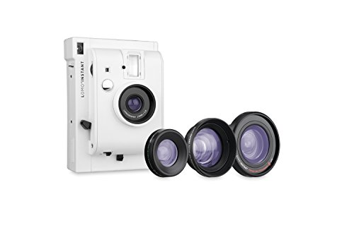 Lomography Lomo'Instant White + 3 Lenses - Instant Film Camera by Lomography