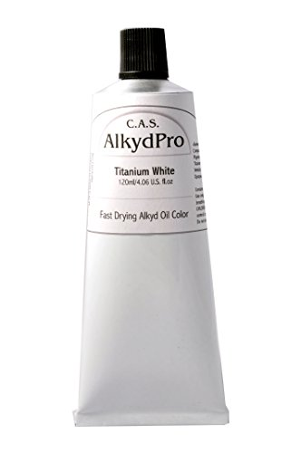 C.A.S. Paints AlkydPro Fast-Drying Oil Color Paint Tube, 120ml, Titanium - Fast Paint Drying