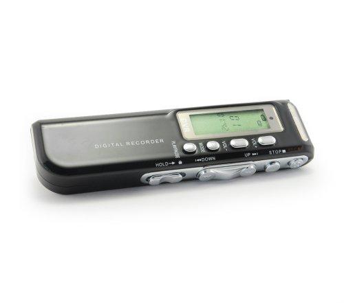 Incutex Digital Voice Recorder, 8 GB, MP3 Player, Digitalrecorder, Diktiergerät, Digitaler Recorder, Notetaker, Aufnahmegerät, Sprachaufnahme