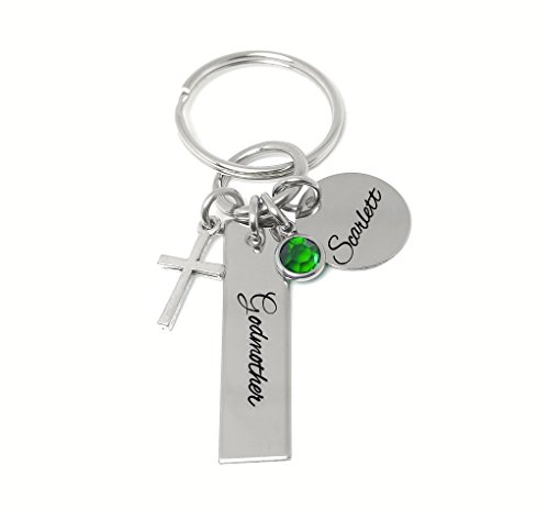 - Godmother Keychain, Personalized Gifts, Godmother Gifts, Religious Gifts