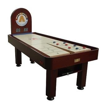 Snap-Back Shuffleboard Tavern Model Shuffleboard with Electronic Scoring, 7-Feet/45-Inch, Mahogany -