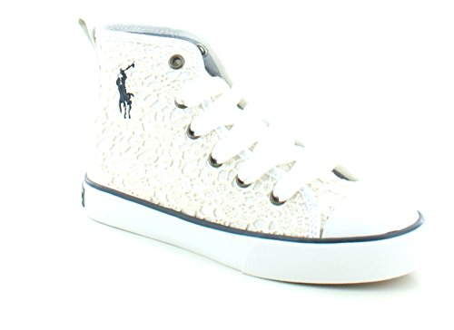 Polo Ralph Lauren Kids Harbour Hi Top Sneaker ,White,2.5 M U