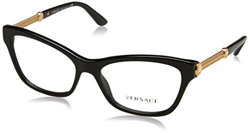 Versace Montures de lunettes Pour Femme 3214 - GB1: Black - 54mm
