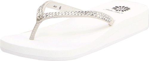 Yellow Box Women's Jello Sandal, White, 8 M