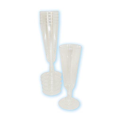 5-Ounce Plastic Champagne Glasses, - Mimosa Glasses