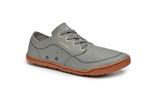 Hemp Mens Sandals - Astral Hemp Loyak Everyday Lace Up Shoe for Casual Use and Travel, Granite Gray, Men's 9.5 M US, Women's 10.5 M US