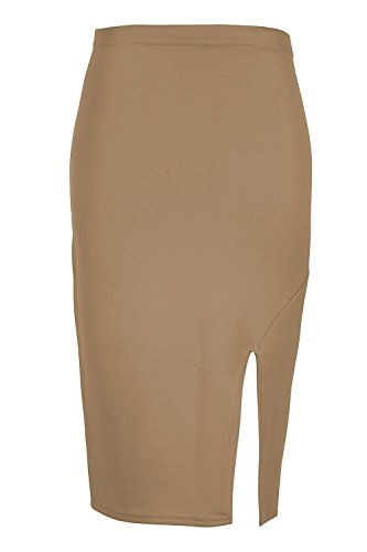 Oops Outlet Damen Seitenschlitz Split Smart Casual Tube Bleistift ...