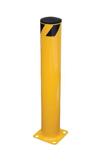 (Vestil BOL-42-5.5 Yellow Powder Coat Pipe Safety Bollard, Steel, 5-1/2