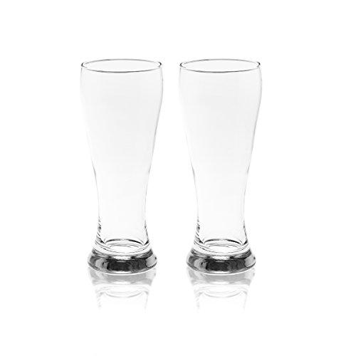 Gourmet Basics by Mikasa Danube Beer Glasses, 20-Ounce, Clear, Set of - German Pilsner Beer