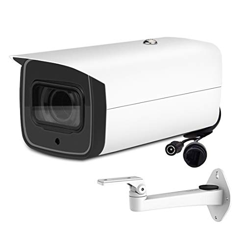 6MP POE IP Camera OEM IPC-HFW4631F-ZSA 2.7-13.5mm Motorized VF Lens H.264/H.265 ONVIF, IR 60m, IK10 with Built in MIC and Micro SD Memory Bullet Network Camera (Bracket Included)