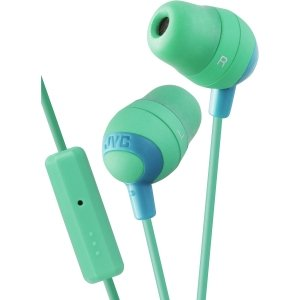 JVC HAFR37G Marshmallow Earbuds with Mic, Green