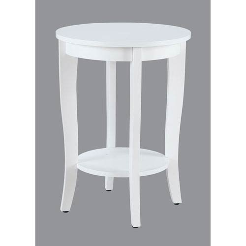 Cheap Convenience Concepts American Heritage Round Table, White