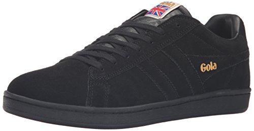 Gola Men's Equipe Suede Fashion Sneaker, Black/Black, 8 UK/9 M US