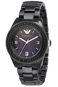 Emporio Armani Men's AR1423 Black Crystal Ceramic Watch