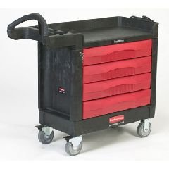 Trademaster Cart, 500-Lb Cap., 1 Shelf, 18 3/8W X 40 5/8D X 33 3/8H, B by Rubbermaid Commercial
