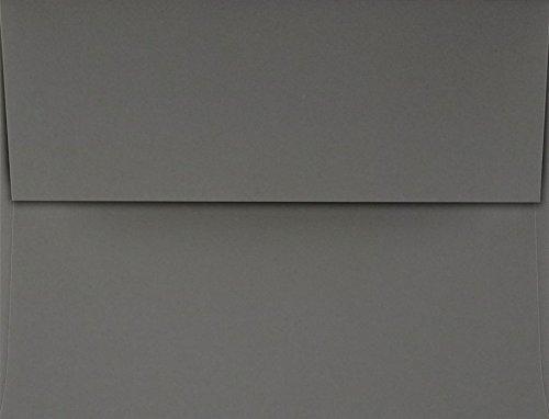 A2 Invitation Envelopes w/Peel & Press (4 3/8 x 5 3/4) - Smoke Gray (50 Qty.)