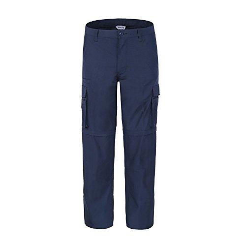Bienzoe Men's Outdoor Quick Dry Waterproof Convertible Cargo Pants,Navy 32*32