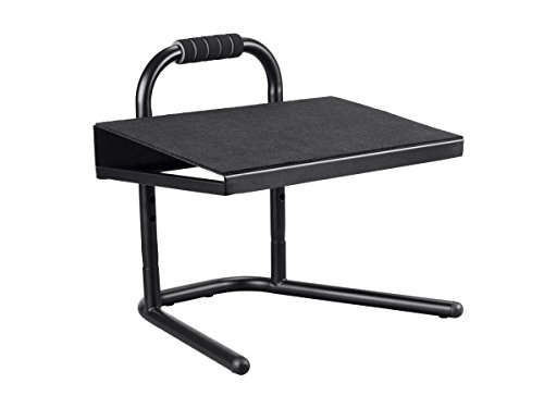 Monoprice Height Adjustable Standing Foot Rest - Black | Steel Stool, Ideal for Work, Desk, Home and Office - Workstream Collection
