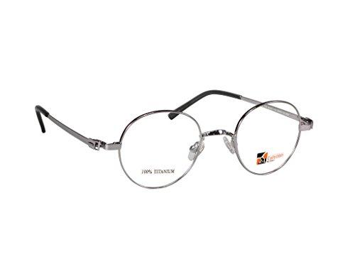 John Lennon Style Vintage Eyeglasses (Silver, - Round John Frames Eyeglass Lennon