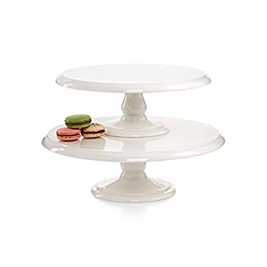 Martha Stewart Collection Set of 2 Cake Plates