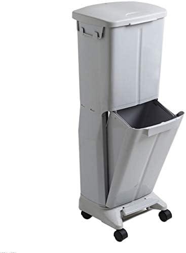 ゴミ袋 ゴミ箱用アクセサリ 台所二重層のゴミ箱大容量のゴミ箱はふたのゴミと世帯できます キッチンゴミ箱 (Color : Gray)