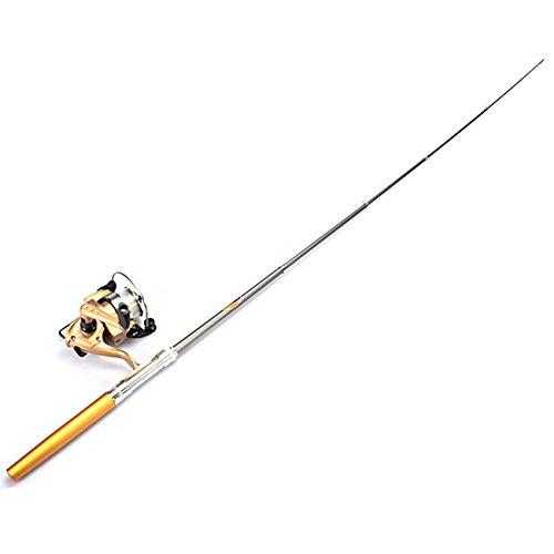 Pocket Pen Fishing Rod Pole Reel Nylon Line Set - 6