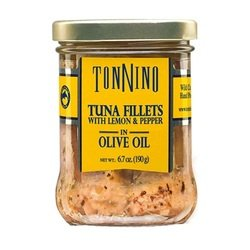 Tonnino Tuna Fillets - Lemon and Pepper, Olive Oil - Case of 6 - 6.7 Ounce ., United States, 6 Count by Tonnino Tuna